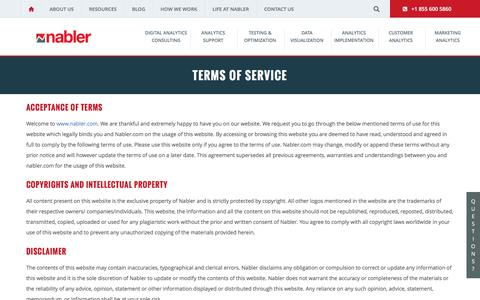 Terms of Services of Nabler Website