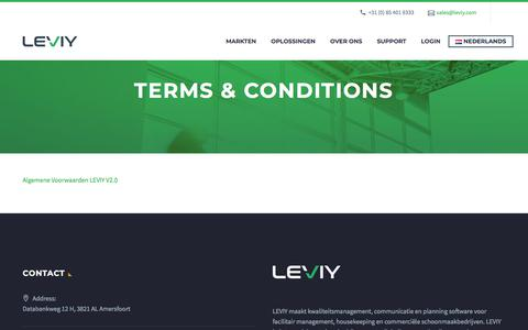 Screenshot of Terms Page leviy.com - Terms & Conditions - LEVIY - captured July 14, 2018