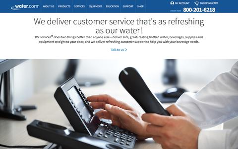 Screenshot of Contact Page Support Page water.com captured Aug. 18, 2016