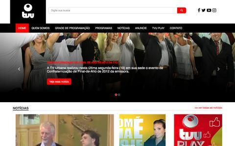 Screenshot of Home Page tvurbana.tv.br - TV Urbana - Acesso direto a muito conteúdo. - captured Aug. 16, 2016