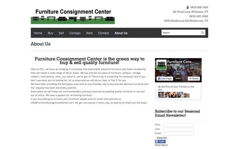 Screenshot of About Page furnitureconsignmentcenter.com - About Us   - captured Aug. 3, 2015