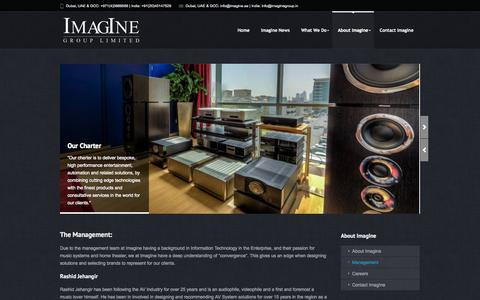 Screenshot of Team Page imagine.ae - Management - ImagIne | the ultimate source for audio visual and automation solutions in the GCC and India - captured Oct. 6, 2014