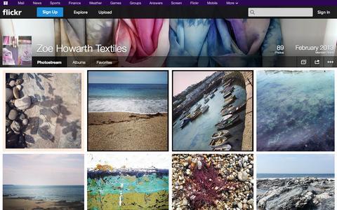 Screenshot of Flickr Page flickr.com - Flickr: Zoe Howarth Textiles' Photostream - captured Oct. 25, 2014
