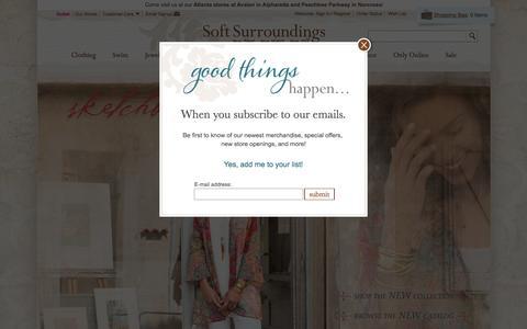 Screenshot of Home Page softsurroundings.com - Soft, Stylish Womens Clothing Store - Soft Surroundings - captured Aug. 14, 2016
