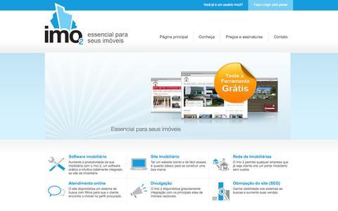 Screenshot of Home Page imo2.com.br - Imo 2 - captured Sept. 30, 2014
