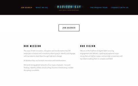 Screenshot of Home Page madison-kay.com - Madison KayWelcome - captured Nov. 17, 2016
