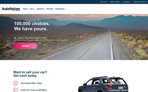 Screenshot of Home Page autonation.com - New Cars, Used Cars For Sale, Car Dealers and Pricing | AutoNation - captured Nov. 17, 2018
