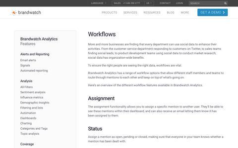 Workflows | Brandwatch