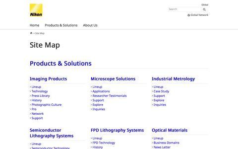 Nikon | Site Map