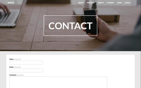 Screenshot of Contact Page wbss.co.uk - Contact – wbss - captured Dec. 20, 2018
