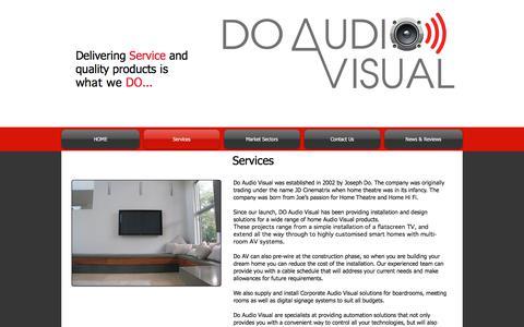 Screenshot of Services Page doav.com.au - Services| Do Audio Visual | Sydney - captured Oct. 12, 2017