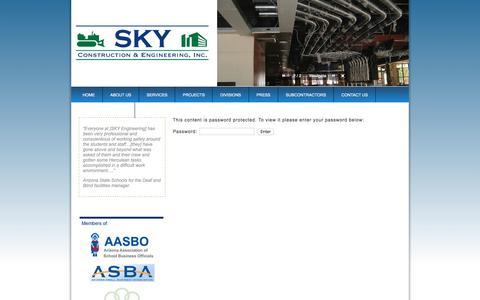 Screenshot of Login Page skyengineering.net - Sky Engineering   » Private Access - captured May 17, 2017