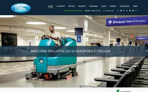 Screenshot of Home Page iscsrl.com - ISC - HP | Macchine per la pulizia: Vendita, Noleggio e Assistenza tecnica - captured May 27, 2017