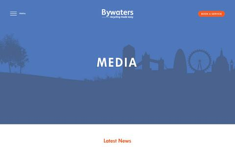 Screenshot of Press Page bywaters.co.uk - Media – Bywaters - captured June 3, 2017