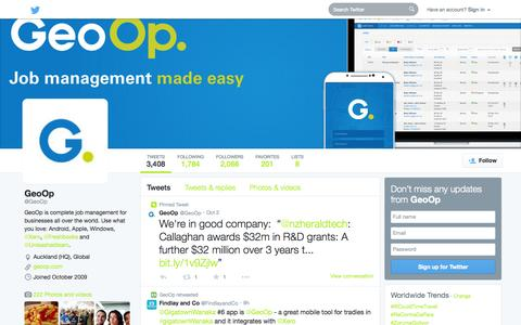 Screenshot of Twitter Page twitter.com - GeoOp (@GeoOp) | Twitter - captured Oct. 22, 2014