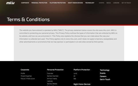 Screenshot of Terms Page mku.com captured Nov. 25, 2015