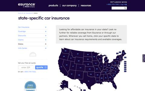 Car Insurance Quotes Personalized for Your State | Esurance