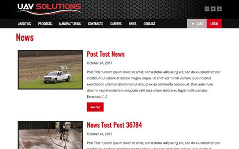 Screenshot of Press Page uav-solutions.com - News - UAV Solutions StoreUAV Solutions Store - captured Jan. 5, 2018