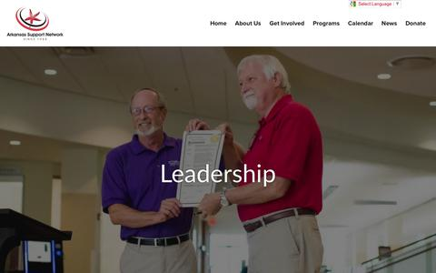 Screenshot of Team Page supports.org - Arkansas Support Network | Leadership - captured Feb. 6, 2016