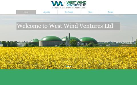 Screenshot of Home Page westwindventures.com - West Wind Ventures Ltd - captured Oct. 7, 2014