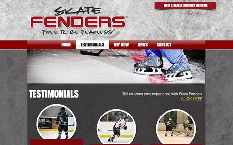 Screenshot of Testimonials Page skatefenders.com - Skate Fenders | Home | TESTIMONIALS - captured Dec. 20, 2016