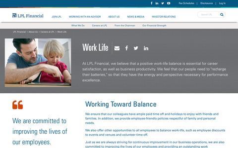 Screenshot of Jobs Page lpl.com - Work Life - captured Oct. 23, 2016