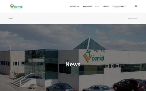 Screenshot of Press Page pomdi.com - News – Pomdi - captured May 12, 2017