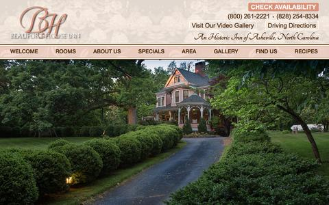 Screenshot of Contact Page Maps & Directions Page beauforthouse.com - Bed and Breakfast Lodging near Downtown Asheville NC - captured Nov. 22, 2016