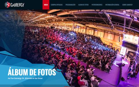 Screenshot of Home Page gamergy.es - Gamergy - captured Jan. 17, 2016