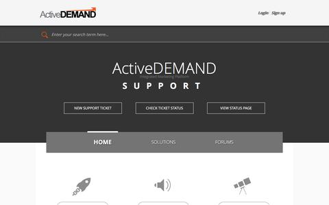 Support : ActiveDEMAND