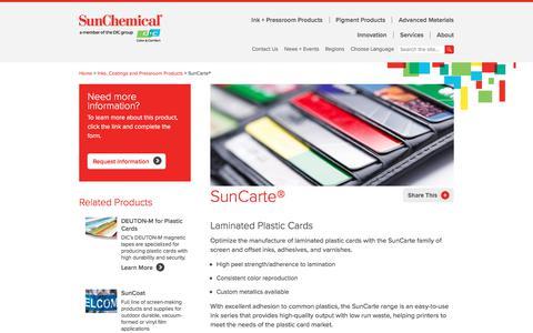 Ink | SunCarte | Sun Chemical