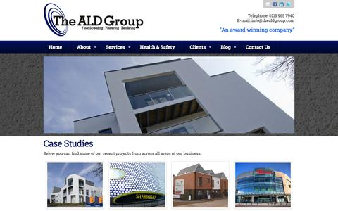 Screenshot of Case Studies Page thealdgroup.com - The ALD Group - Case Studies - captured Oct. 19, 2018