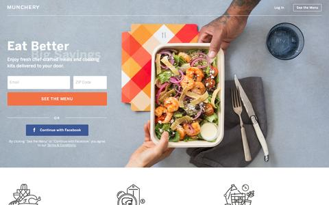 Screenshot of Home Page munchery.com - Munchery - Food Delivery Service - captured Oct. 3, 2016