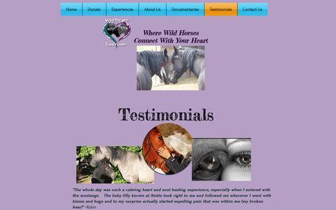 Screenshot of Testimonials Page wild-heart-sanctuary.com - wild-heart-sanctuary | Testimonials - captured Nov. 10, 2016
