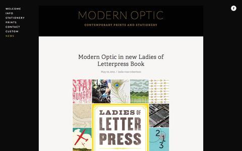 Screenshot of Press Page modern-optic.com - News — MODERN OPTIC - captured March 8, 2016