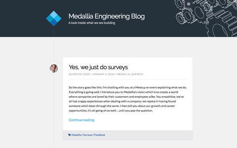 Medallia Engineering Blog