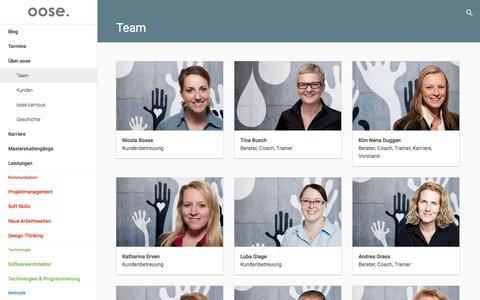 Screenshot of Team Page oose.de - Team – oose Innovative Informatik - captured Nov. 17, 2016