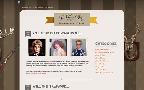 Screenshot of Blog dollarshaveclub.com - Dollar Shave Club Blog » The Clubhouse Dollar Shave Club Blog - captured Sept. 15, 2014