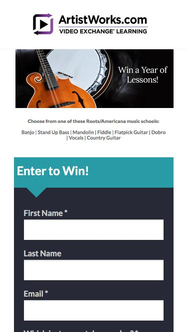 Enter to win a year of Free Roots/Americana music lessons at ArtistWorks!