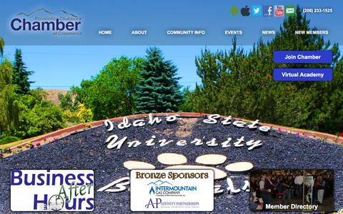 Screenshot of Home Page pocatelloidaho.com - Chamber of Commerce - Pocatello and Chubbuck - Chamber of Commerce - Pocatello and Chubbuck - captured June 25, 2016
