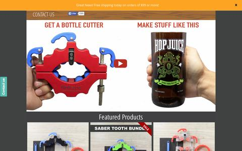 Screenshot of Home Page bottlecutting.com - The Kinkajou Bottle Cutter is easy and fun to use. - captured Oct. 21, 2015
