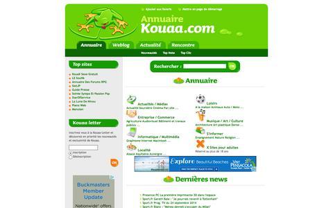 Screenshot of Home Page kouaa.com - Kouaa : L'annuaire - captured Sept. 24, 2014