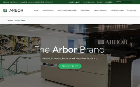 Screenshot of About Page arbor.com - Our Brand - Arbor Realty Trust, Inc. | Arbor - captured Jan. 21, 2018