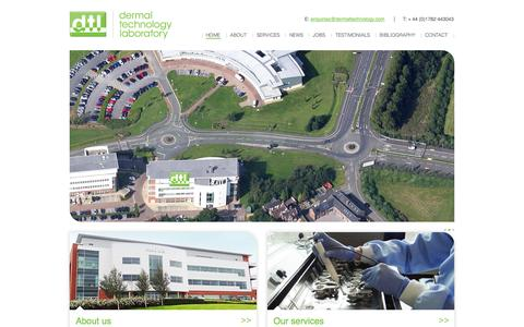 Screenshot of Home Page dermaltechnology.com - In vitro dermal absorption specialists | Dermal Technology Laboratory - captured Oct. 5, 2014