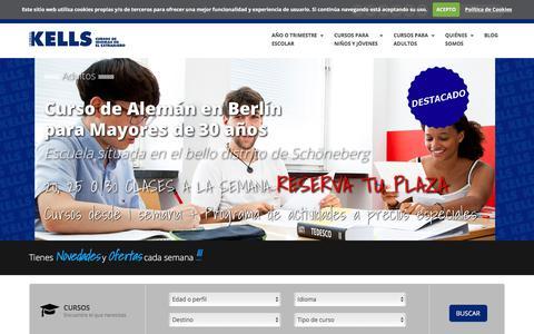 Screenshot of Home Page kellscollege.com - Cursos idiomas extranjero,  cursos de inglés en el extranjero, campamentos de inglés | Kells College - captured Oct. 16, 2017