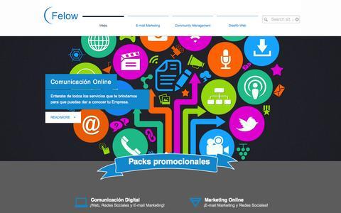 Screenshot of Home Page felow.net - Felow DMG Media   Comunicación Online y Marketing online - captured Oct. 5, 2014