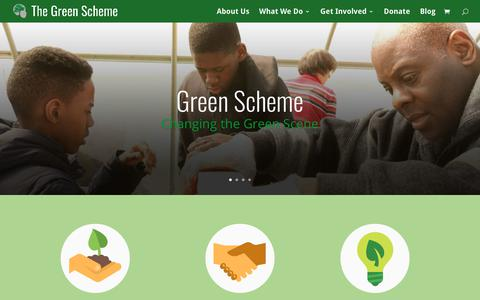 Screenshot of Home Page greenscheme.org - The Green Scheme | The New Cool - captured Oct. 22, 2018