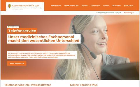 Screenshot of Home Page sprechstundenhilfe.com - sprechstundenhilfe.com - captured Aug. 17, 2015