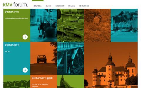 Screenshot of Home Page kmvforum.se - KMVFORUM - Ett företag i kulturmiljö branschen - captured March 6, 2016