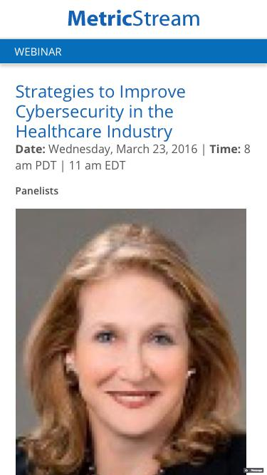 WEBINAR: Strategies to Improve Cybersecurity in the Healthcare Industry